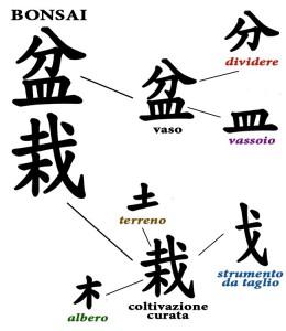 Ideogramma bonsai significato